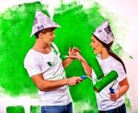 La main font la maison avec la famille illustration de vecteur image 404 - Mur de photos de famille ...