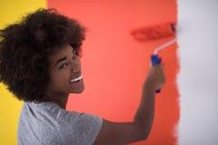 Mur de peinture de femme de couleur Images libres de droits