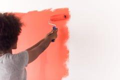 Mur de peinture de femme de couleur Photos stock