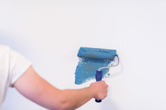 Mur de peinture de main du ` s de décorateur Photos stock