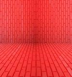 Mur de pièce de brique rouge Photo libre de droits