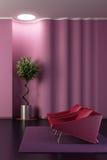 mur de pièce de salon de conception ondulé illustration de vecteur