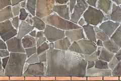 Mur de pierre rugueuse Image stock