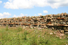 Mur de pierres sèches, Images libres de droits