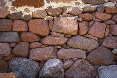 Mur de pierres sèches Photos libres de droits
