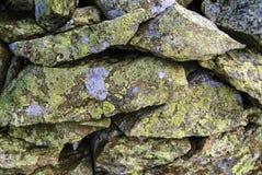 Mur de pierres sèches dans le secteur anglais de lac Photo stock
