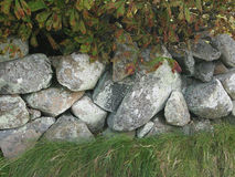 Mur de pierres sèches de côte ouest Images stock