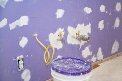 mur de pierres sèches installé neuf Photos libres de droits