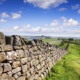 Mur de pierres sèches le Northumberland Photo libre de droits