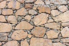 Mur de pierres sèches naturel Photos stock