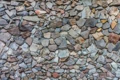 Mur de pierres sèches naturel pour la décoration extérieure Images stock