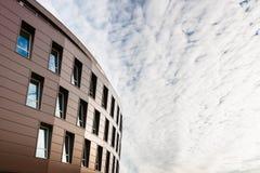Plan rapproch moderne de vue de face de mur de verre d for Immeuble bureau plan