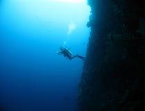 mur de plongée Photographie stock libre de droits