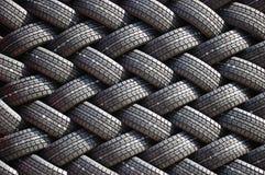 Mur de pneus en caoutchouc Image stock