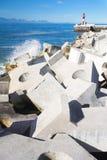 Mur de port de rupture de tempête Image libre de droits