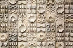 Mur de poterie au vieux marché dans Kolkata, Inde Images libres de droits