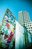 Mur de Potsdamer Platz Images libres de droits