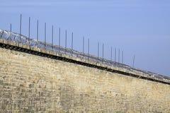 Mur de prison. Image libre de droits