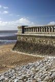 Mur de promenade à la Southend-sur-mer, Essex, Angleterre Images libres de droits