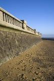 Mur de promenade à la Southend-sur-mer, Essex, Angleterre Photos libres de droits