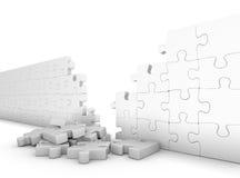 Mur de puzzle Images stock