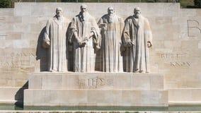 Mur de réforme à Genève Photos libres de droits