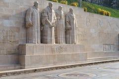 Mur de réforme à Genève Image libre de droits