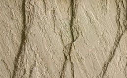 Mur de roche avec 3 fissures Photographie stock libre de droits