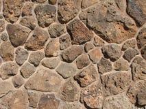 Mur de roche de basalte Photo stock