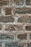 Mur de roche sédimentaire, barrière, extérieur, texture Très utilisé dans les endroits côtiers pour le mur de construction de la  Photos libres de droits