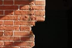 Mur de rouge de brique Photos stock