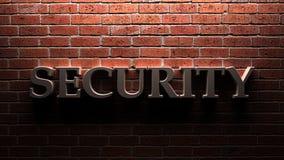Mur de sécurité Image libre de droits