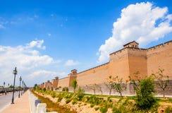 Mur de scène-ville de Pingyao Images libres de droits