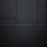 Mur de Scifi mur en métal et fibre noire de carbone Fond en métal illustration libre de droits