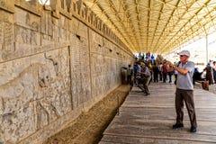 Mur de soulagement de Persepolis Image libre de droits
