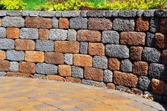 mur de soutènement de patio Photographie stock