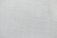 Mur de stuc peint par blanc Texture de fond Photographie stock libre de droits