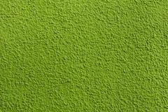 Mur de stuc peint par vert Image libre de droits