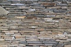 Mur de texture en pierre grise Photos libres de droits
