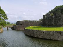 Mur de Tipu Sultan Fort, Palakkad, Kerala, Inde image libre de droits