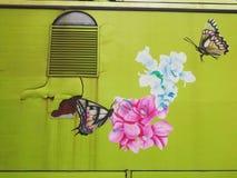 Mur de toilette mobile Hadtai, Thaïlande Photos stock