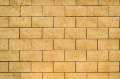 Mur de tuile dans le beige Photos libres de droits