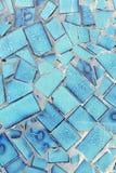 Mur de tuile de sarcelle d'hiver Image stock