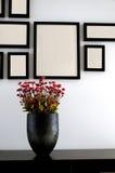 Mur de vase et de photo Image libre de droits