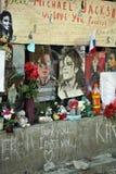 Mur de ventilateur de Michael Jackson photographie stock