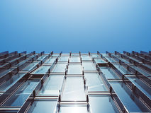 Mur de verre moderne d'architecture établissant le fond abstrait Photos stock