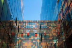 Mur de verre souillé Images libres de droits