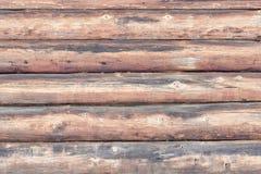 Mur de vieux rondins Disposition horizontale Plan rapproché photo stock