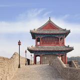 Mur de ville antique avec tour de guet fleuri, Zhangjiakou, Chine Photo stock
