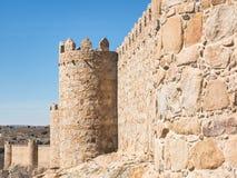 Mur de ville d'Avila, Espagne Images stock